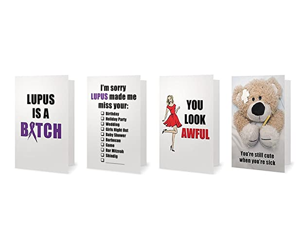 Amazon lupus spoonie autoimmune support greeting cards pack of lupus spoonie autoimmune support greeting cards pack of 4 glossy 5 x 7 in m4hsunfo