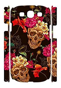 Custom Skull Art Case for Samsung Galaxy S3 I9300 with Day of the dead