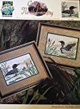 Call Of The North Country, Loons In Their Natural Landscape, Cross Stitch