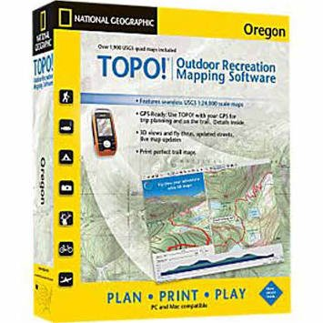 - National Geographic TOPO! Outdoor Recreation Mapping Software Oregon