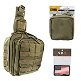 5.11 Rush Moab 6 Tactical Sling Pack Med First Aid Patriot Bundle - Sandstone