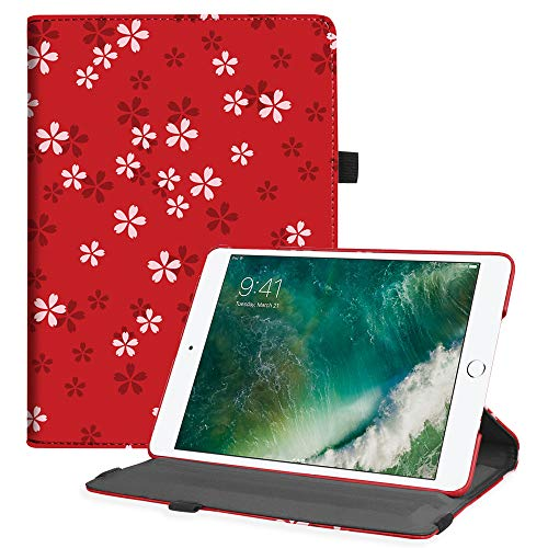 Fintie iPad 9.7 2018 2017 / iPad Air 2 / iPad Air Case - Multiple Angles Stand Smart Protective Cover with Auto Sleep Wake for iPad 9.7 inch (6th Gen, 5th Gen) / iPad Air 2 / iPad Air, Floral Red