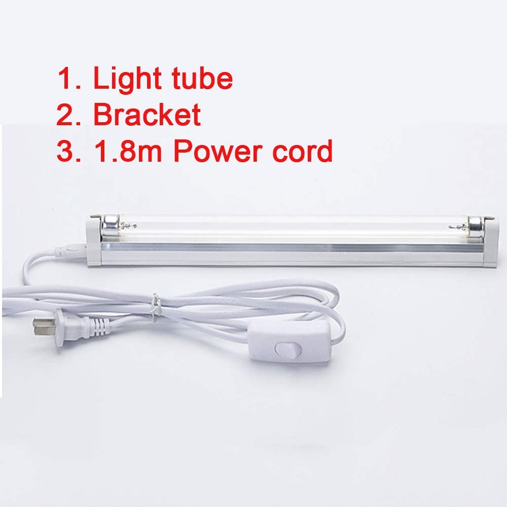 8W 15W 20W 30W 110V UV Disinfection Lamp with Ozone Professional UVC Lamp,Control of Home,Office,Travel and Pet Disinfection