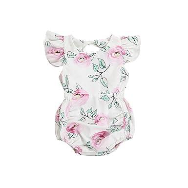 Wang-RX Moda Encantadora bebé recién Nacido Ropa de Verano ...