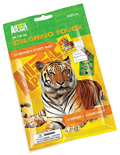 Primary Colors Animal Planet On The Go Coloring Pouch -