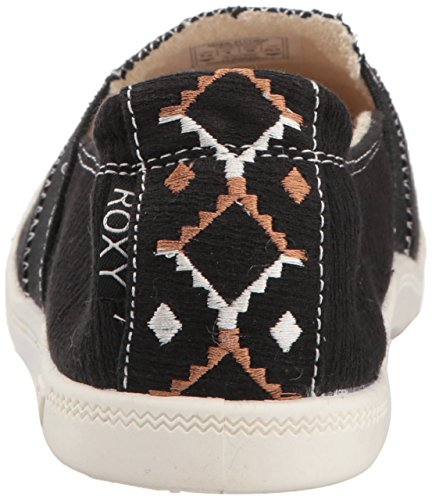 Black on Roxy Slip Women's Palisades Sneaker Print Shoe wrttvY8q