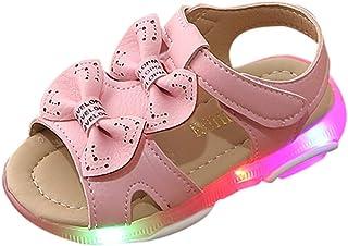 Kleinkind Baby Mädchen Kinder Blume Leder Einzelne Schuhe Weiche Sohle Prinzessin Schuhe Sommerhaus Außerhalb Nette LED Licht Sneaker Weiß Rot Rosa Hot Rose 21-30