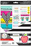 Create 365 Classic Happy Planner Teacher Accessory Pack, 121 Pieces, Teacher Planner Accessories