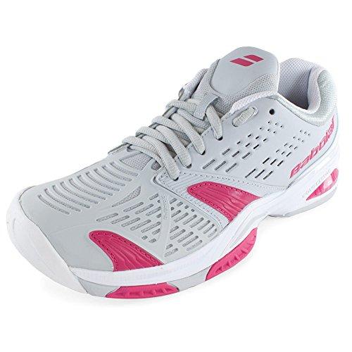 Babolat SFX All Court Women's Tennis Shoes (Grey/Pink) (6 B(M) US)