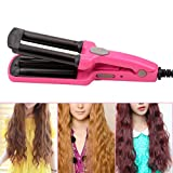 inkint Professional Portable Curling Iron Curling Wand Hair Curler With Tourmaline Ceramic (Rose)
