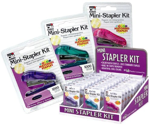UPC 026487820047, Charles Leonard Inc., Stapler Kit Display -Mini with Color Staples, Assorted Colors, 30 Count, 10 Pink, 10 Purple, 10 Teal (82000-CU)