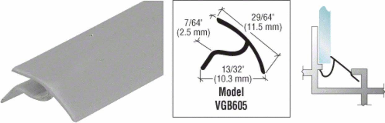 Gray Snap-In Vinyl Glazing Bead 72 in long - 20 Pack