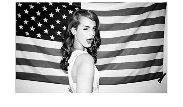 Amazon Com We Are Together Lana Del Rey F1424 12inchx 20inchvintage Black And White American Flag Pop Music Gangster Born To Die Box Art Print Canvas Poster Wall Scroll Posters Prints