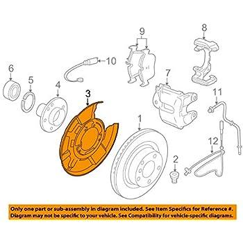 Nissan Driver Left Rear Brake Backing Plate Splash Shield 44030-8J010