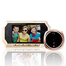 "4.3""LCD HD Screen Peephole Viewer Door Viewer Camera Night Vision No Disturbing Functions + 160 Degree Wide Angle + PIR Motion Detection Door Viewer Doorbell Security Camera Cam"
