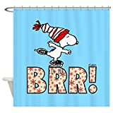 CafePress - Snoopy Brr! - Decorative Fabric Shower Curtain
