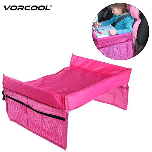 Daphot Store - Portable Toddler Kids Baby Safety Waterproof Snack Car Seat Table Organizer Stroller Tray Play Travel Lap Drawing Board (Purple)