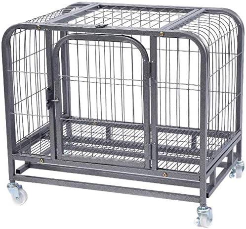 KKLLL jaulas para Perros, Valla para Animales Transporte Exterior jardín Cachorros Red metálica 2 Puertas, Violeta, 94 × 64 × 83 cm: Amazon.es: Hogar