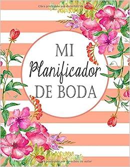 Mi Planificador De Boda: Un Organizador de Bodas, Rayas Coral (Spanish Edition): M2MParty Designs: 9781793239679: Amazon.com: Books