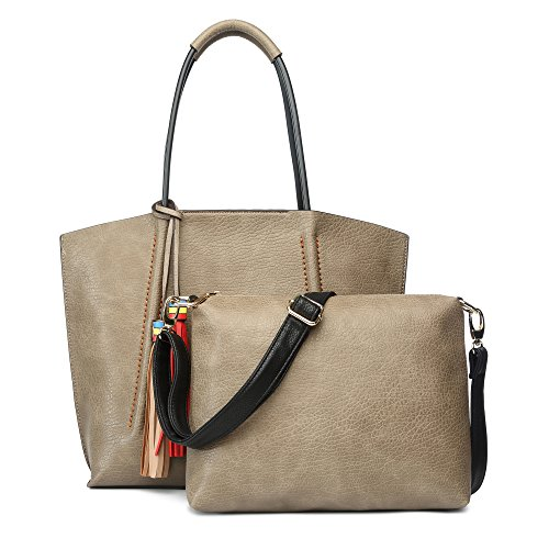 Tote Bags for Women Large New Desinger Shoulder Handbags 2 Pieces Set Summer Stylish Travel Work Purse - Lot High Quality Fashion