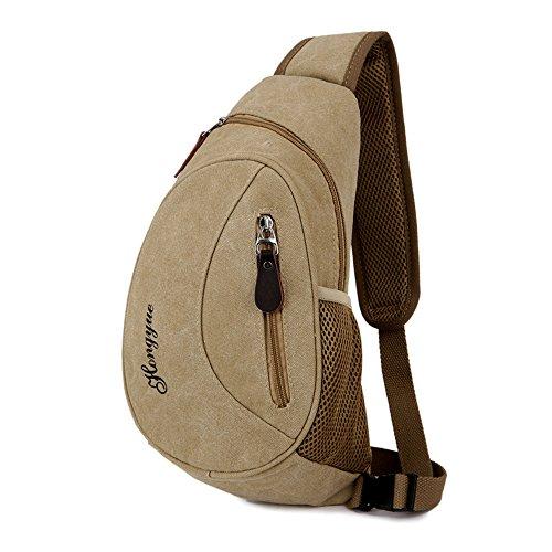 Wewod Chest Bag Sports Bag Crossbody Bag Retro Chest 20 X 36 X 7 Cm (l * H * W) Persimmon