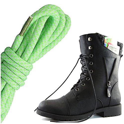 Dameszeilen Militaire Damestrui Met Veterboots Rits Sweater Enkel Hoge Exclusieve Creditcardzak, Lime Wit Zwart Pu