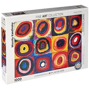 Eurographics 01323 Kandinsky Studio Colori Dei Quadrati Puzzle 1000 Pezzi