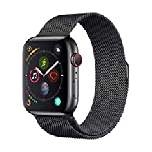 Apple Watch Series 4 (GPS + Cellular, 44mm) - Space Black Stainless Steel Case with Space Black Milanese Loop