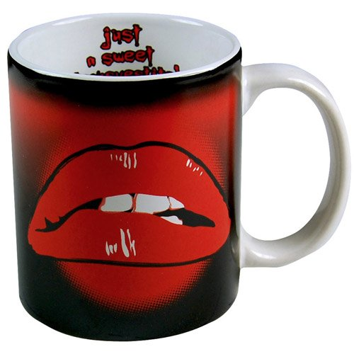 Rocky Horror Lips Mug 'Just A Sweet Transvestite'