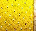 <Qキャラクター・キルティング生地>ミッフィー(ミフィー・ミィフィー)(イエロー)#26 ( 2018-2019)(キルティング キルト キャラクター キルティング生地 布 入園 入学 ピロル)の商品画像