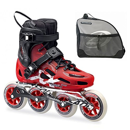 Rollerblade Maxxum 100 Red and Black Inline Skates with Rollerblade Skate Bag Included-11