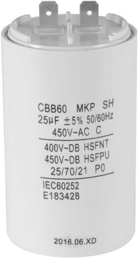 XCSOURCE Washing Machine CBB60 25uF AC 450V Motor Run Capacitor White Shell HS837