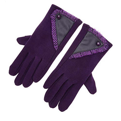 Women's Stylish Lace Touch Screen Skiing Gloves Lined Thick Warm Winter Gloves - - For Big Oakleys Best Heads