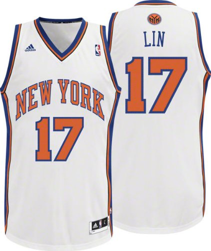 756c45410d2b Amazon.com   NBA New York Knicks White Swingman Jersey Jeremy Lin ...