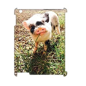 wugdiy Custom 3D Case for iPad2,3,4 with Personalized Design pig