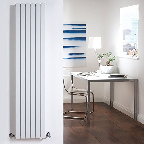 Hudson Reed - Sloane Vertical Double Radiator With Valves In White Finish - 63