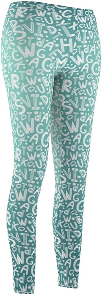 Nordix Limited Scandinavian Style Seamless with Letters Dream Blue Yoga Pants Womens Cut /& Sew Casual Leggings