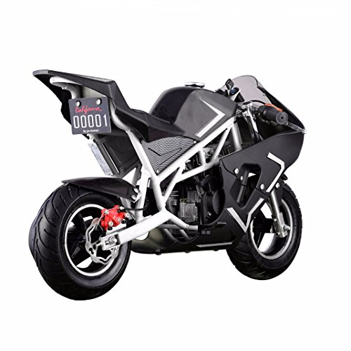 Generic 40CC 4-Stroke Gas Power Mini Pocket Motorcycle Ride-on, White/Black, EPA Certificated