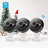Funlux 720p HD Wireless Smart Home Day Night Security Surveillance Camera (3 Pack)