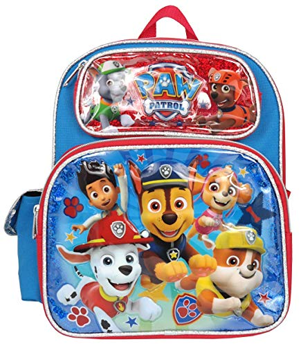 Nickelodeon Paw Patrol Boys 12 inch Toddler School Backpack Canvas Book Bag New USA ()
