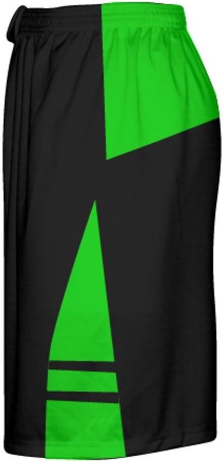 LightningWear Black Green Youth Adult Lacrosse Shorts