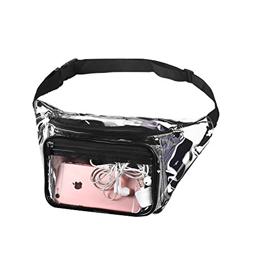 Transparent Waist Fanny Pack Clear Purse Security Stadium Pockets Adjustable Strap from Bags for Less