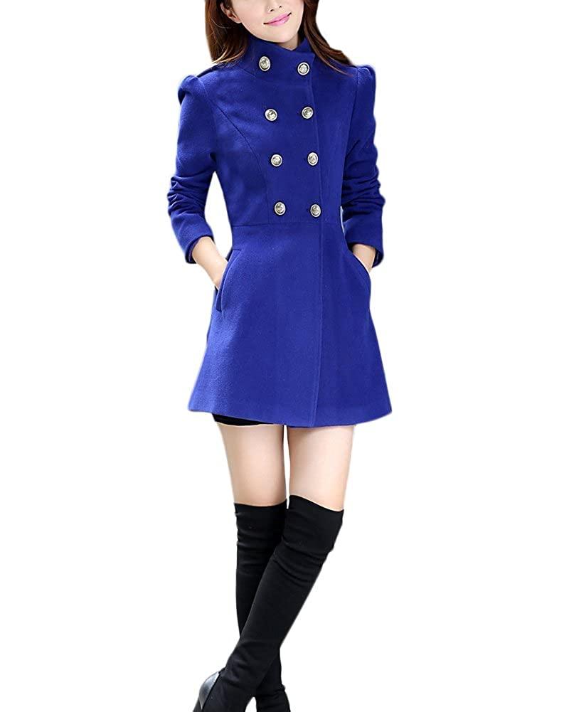 Lannister Fashion Trench Donna Invernale Elegante Cappotto Doppio Petto Blazer Ufficio Casual Autunno Parka Collo Alto Manica Lunga Giubbotto Tailleur Ragazze Classico Puro Colore Slim Fit