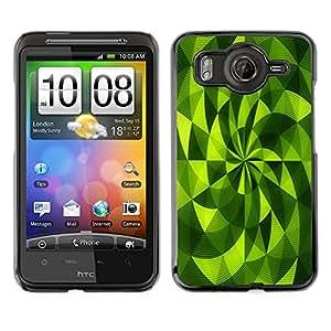 Cubierta de la caja de protección la piel dura para el HTC DESIRE HD / G10 - polygon fan vibrant abstract pattern