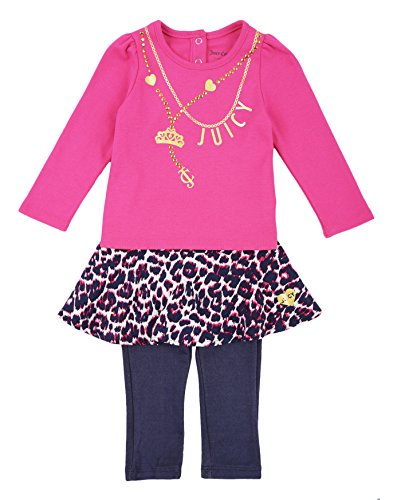 juicy-couture-baby-girls-2-piece-skegging-set-with-printed-challis-skirt-fuchsia-18-months