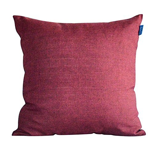 HOMEE Modern and Minimalist Upscale 4.5-60S Ma Pure Color Atmospheric Pillow Pillow Side Sleeper Candy Pillow ,30X50Cm, Khaki,Wine red,30X50cm