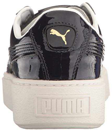 PUMA Women's Basket Plattform Patent Wn Feldhockey-Schuh Peacoat-Peacoat