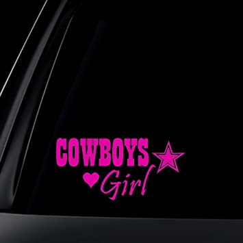 Amazoncom Cowboys Girl Car Decal  Sticker  Pink Automotive - Car decal sticker girl