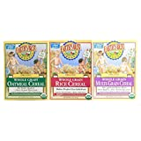 Earth's Best Organic Whole Grain Rice, Whole Grain Oatmeal & Multi-Grain Cereal (One 8 Oz Box of Each)