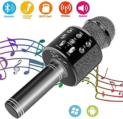Suntop Micrófono Karaoke Bluetooth, Micrófono Inalámbrico ...